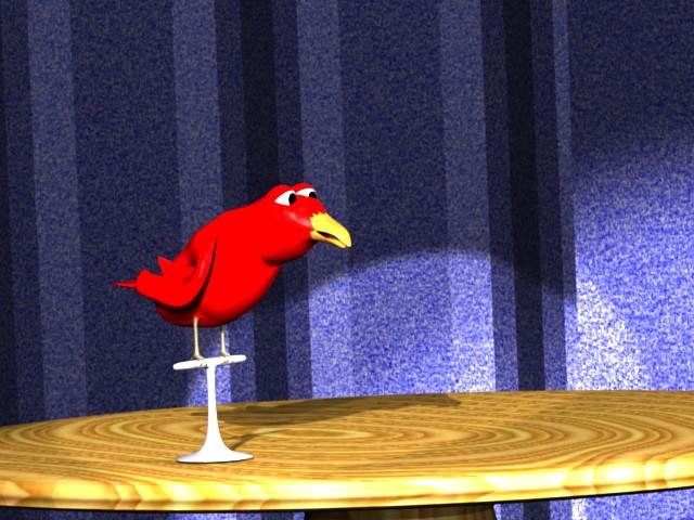 Chico the animated magic bird.