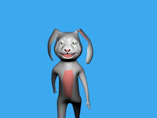 Stretch the animated magic rabbit..
