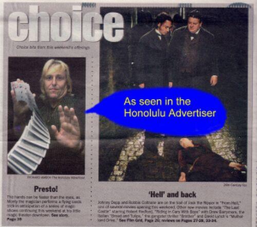 Monty as seen in Honolulu Advertiser